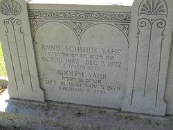 Annie <I>Schmidt</I> Yahr