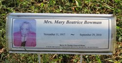 Mary Beatrice Bowman