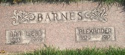 Ann Colemere <I>Webb</I> Barnes
