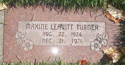Maxine <I>Leavitt</I> Turner