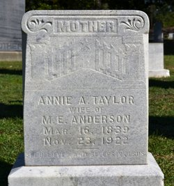 Annie A <I>Taylor</I> Anderson