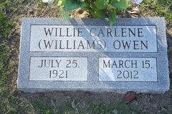 Willie Carlene <I>Williams</I> Owen