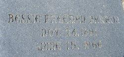 Bessie <I>Freeman</I> Barron