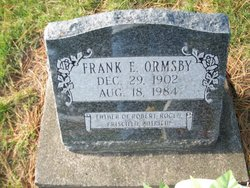 Frank Elmer Ormsby