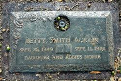 Betty Nell <I>Schrimsher</I> Acklin