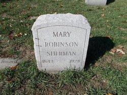 Mary <I>Robinson</I> Sherman
