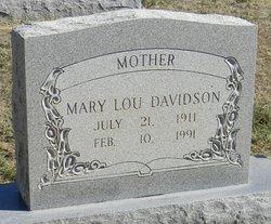 Mary Lou <I>Bradley</I> Davidson
