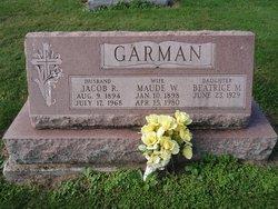 Maude W. <I>Spangler</I> Garman