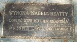 Wynona Isabell <I>Bear</I> Beatty