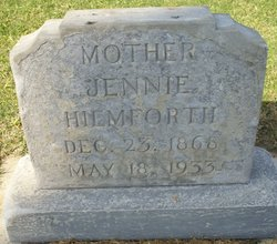 Jennie <I>Scott</I> Hiemforth