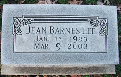 Jean <I>Barnes</I> Lee