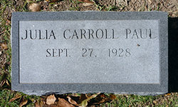 Julia <I>Carroll</I> Paul
