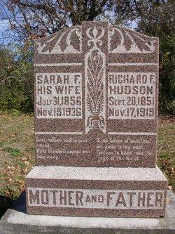 """Sarah Frances """"Fannie"""" <I>Jones</I> Hudson"""