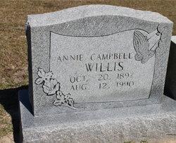 Annie <I>Campbell</I> Willis