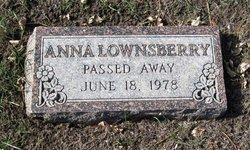 Anna <I>Nugent</I> Lownsberry