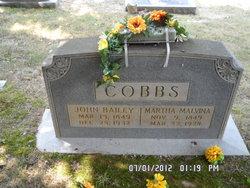 Martha Malvina <I>Freeman</I> Cobbs