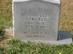 Nannie Lee <I>P</I> Samuels
