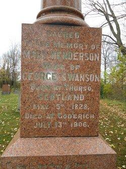 Mary <I>Henderson</I> Swanson
