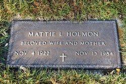 Mattie L. Holmon