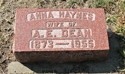 Anna Edith <I>Haynes</I> Dean