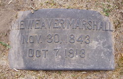 Annie <I>Weaver</I> Marshall