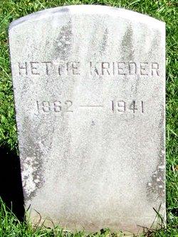 Hettie Krieder