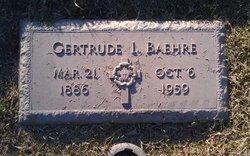 Gertrude Louise <I>Wickman</I> Baehre