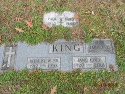 Jane <I>Cole</I> King