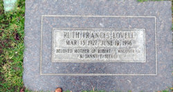 Ruth Frances Lovell