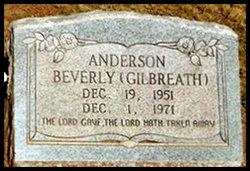 Beverly <I>Gilbreath</I> Anderson