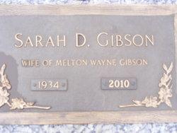 Sarah Moore <I>Davis</I> Gibson