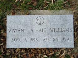 Vivian <I>La Haie</I> Williams