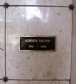 Alberta <I>Randall</I> Talton