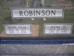 Mary <I>Neal</I> Robinson