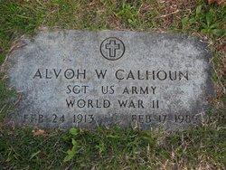 Sgt Alvoh W. Calhoun