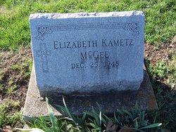 Elizabeth <I>Kametz</I> McGee