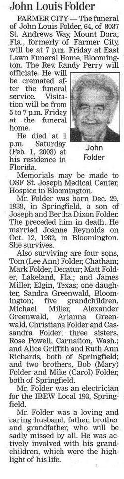John Louis Folder