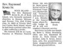 Rev Raymond M. Krutz, Sr
