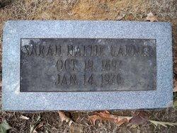 Sarah Hattie Garner