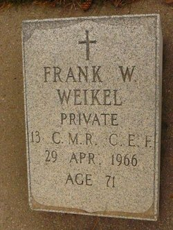 "Franklin Wellington ""Frank"" Weikel"