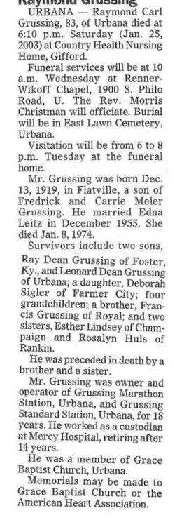 Raymond Carl Grussing
