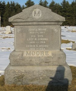 Lucy M <I>Dimond</I> Moore