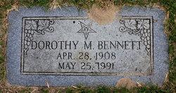 Dorothy M Bennett