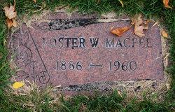 Foster W MacFee