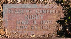 Blanche Mildred <I>Campbell</I> Hight