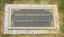 Juanita <I>Underwood</I> Setliff
