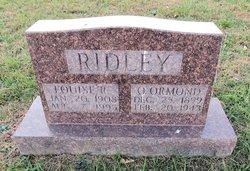 O. Ormond Ridley