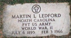 Pvt Martin Luther Ledford, Sr