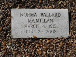 Norma Jane <I>Ballard</I> McMillan