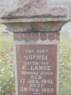 Sophia F <I>Jenss</I> Lange